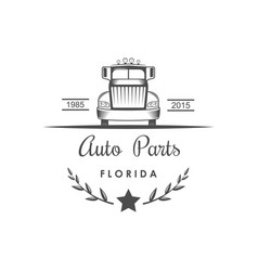 auto parts logotype vector image