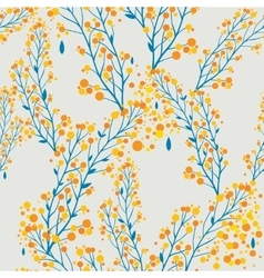 Autumn pattern in retro style vector image