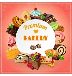 Bakery promo poster vector