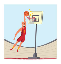 basketball player flat vector image