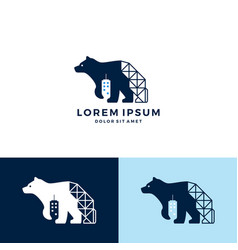 bear building construction logo icon download vector image