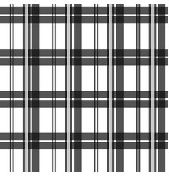 black and white fabric texture check tartan vector image