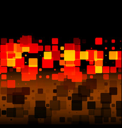 Black brown red yellow glowing rounded tiles vector