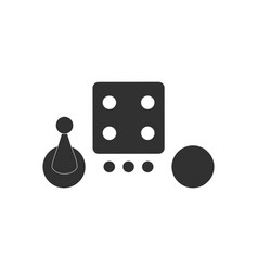 Black icon on white background board game piece vector