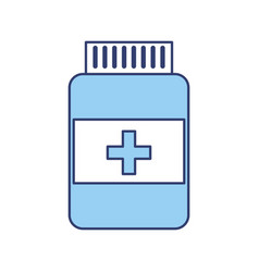 Blue pill bottle vector