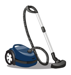blue vacuum cleaner isolated on white background vector image