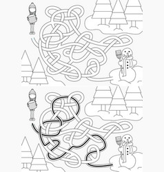 Building snowman maze vector