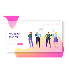 business people teamwork landing page vector image
