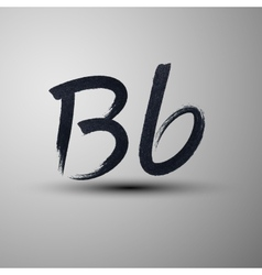 Calligraphic hand-drawn marker or ink letter B vector