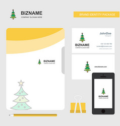 christmas calendar business logo file cover vector image