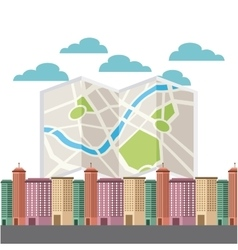 Cityscape with gps service vector