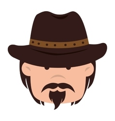 Cowboy hat western icon graphic vector