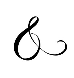 custom decorative ampersand isolated on white vector image