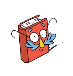 Cute cartoon book character mascot vector