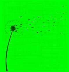 Dandelion seeds vector