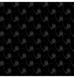 Dark floral nature seamless pattern design vector image