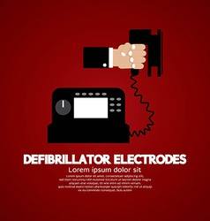 Defibrillator Electrodes Medical Equipment vector image