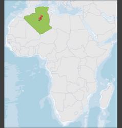 Democratic republic algeria location on africa vector