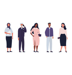diverse group business people vector image