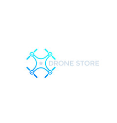 Drone store logo icon vector