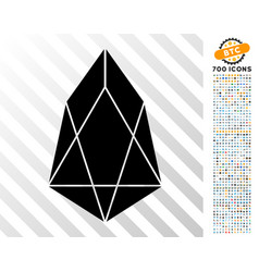 Eos currency flat icon with bonus vector