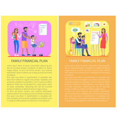 family financial issues set vector image