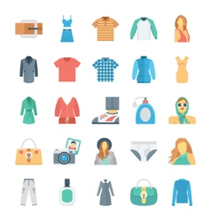 Fashion and clothes icons 6 vector