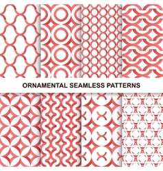 Fashoinable ornamental patterns - seamless vector image