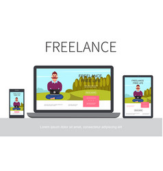 flat freelance modern concept vector image