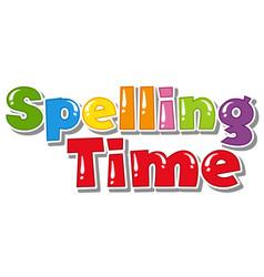 Font design for word spelling time on white vector