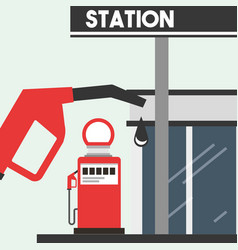 Gas filling station service oil industry vector