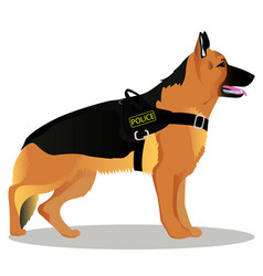 German shepherd police dog vector