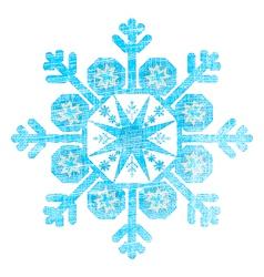 Grunge Christmas Snowflake vector image