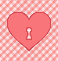 Heart pink vector image
