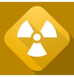 icon of Radiation Sign with a long shadow vector image