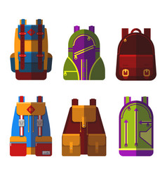 Isolated bag or rucksack satchel or handbag vector