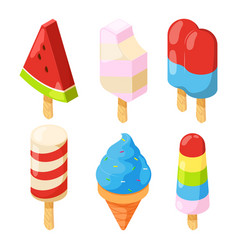 isometric icecream pictures vector image