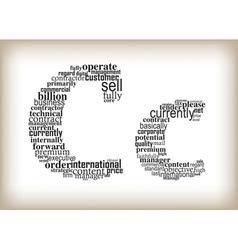 Letter c filled business words vector