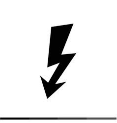 lightning icon design vector image