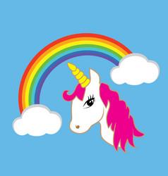 magical unicorn vector image