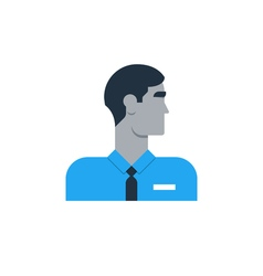Man side view turned head security work sales vector image