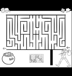 Maze activity game with wanderer vector