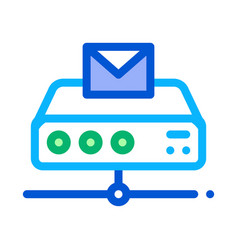 messaging digital technology icon outline vector image