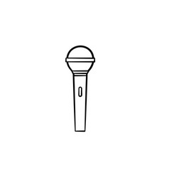 microphone hand drawn outline doodle icon vector image