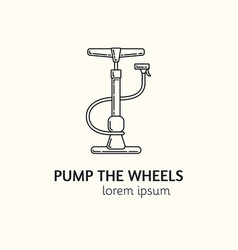 Modern linear style pump logotype template vector