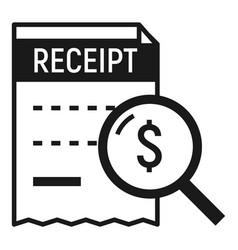Money receipt icon simple style vector