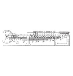 Multiplying or dividing machine vintage vector