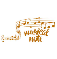 musical notes icon love music calligraphy text vector image