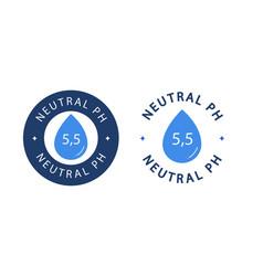Neutral ph symbol with drop range 55 vector