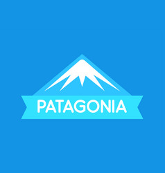 patagonia emblem in blue color of south vector image